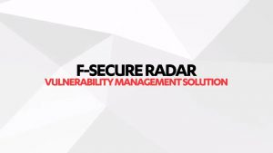 RADAR F-SECURE