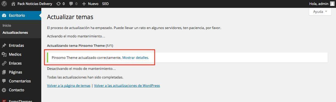 Actualizar los temas en WordPress para securizar nuestra web