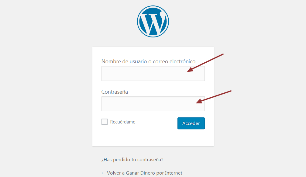 Control de acceso a WordPress