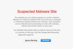 Sitio web comprometido con Safari