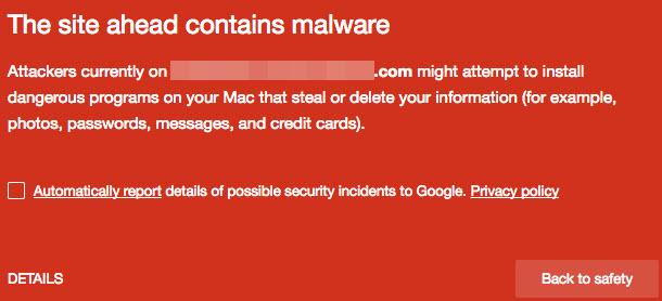 Sitios web infectados con Malware