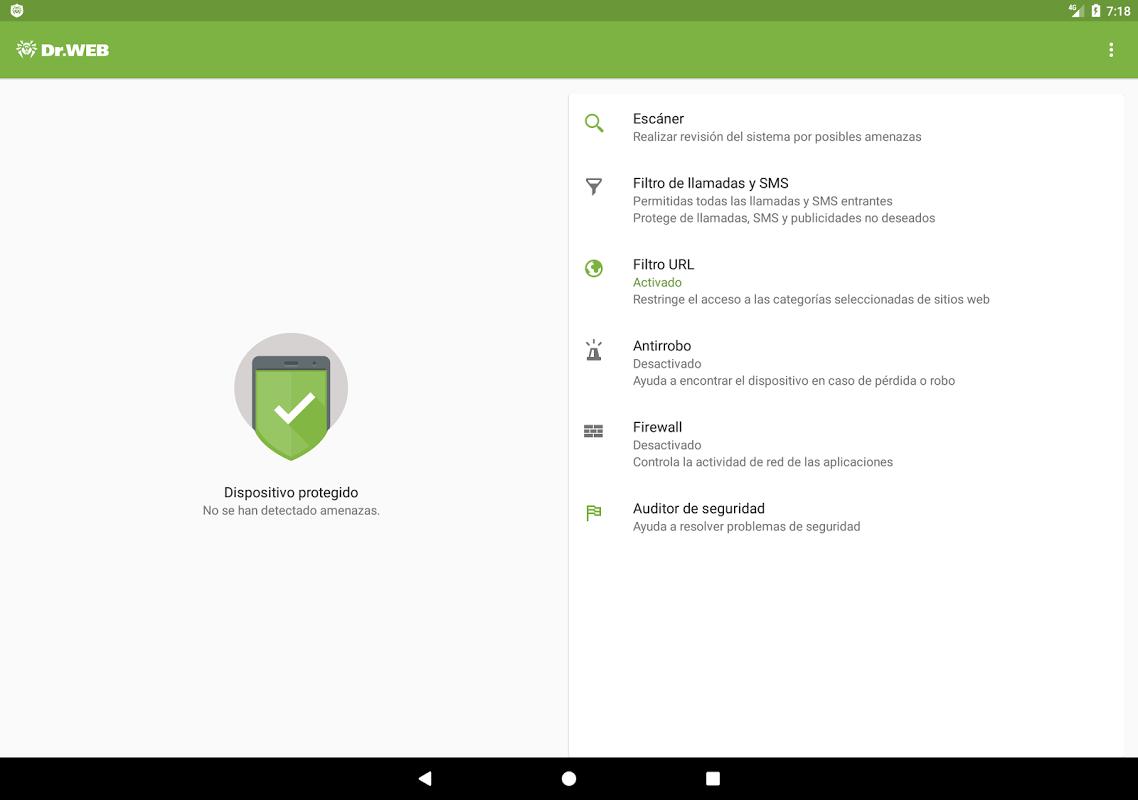 Características de la protección de dispositivos móviles